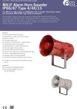 Product specifications MA112